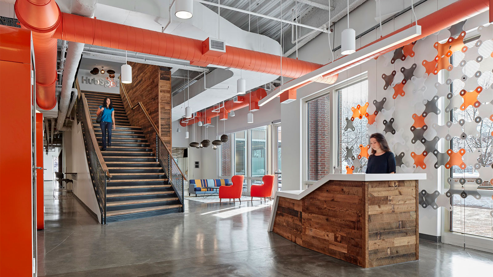 The Hubspot campus in Cambridge MA