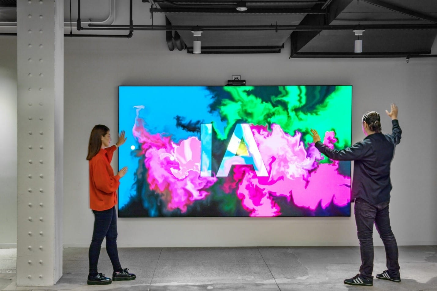 IA Interior Architects New York Office Interactive Technology Wall