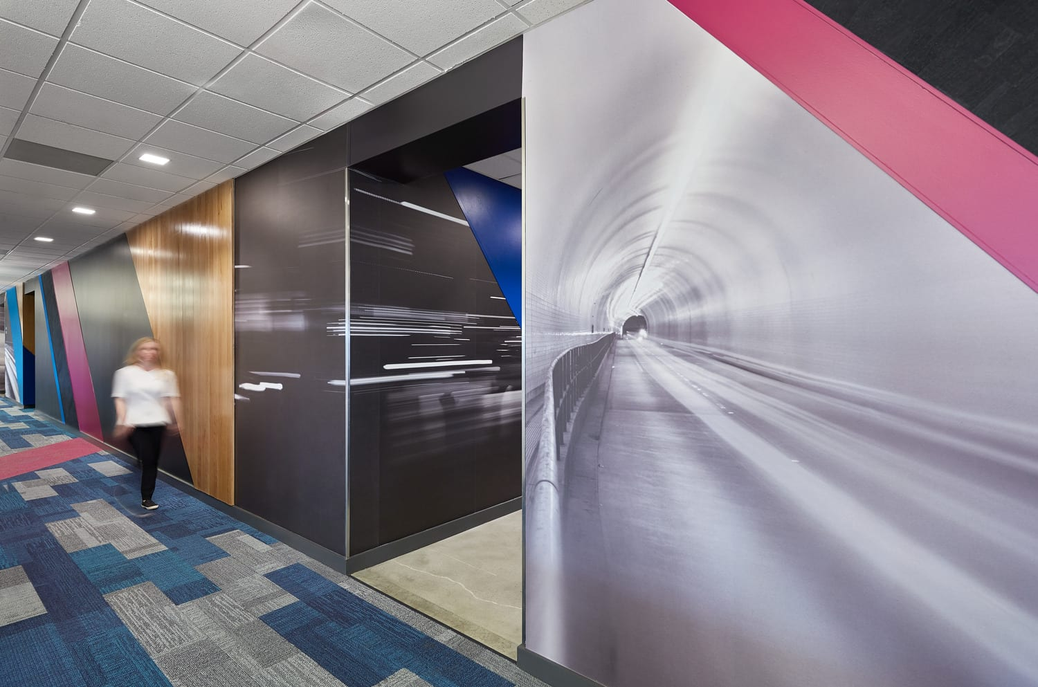 Interior Wall-size graphics in the workplace