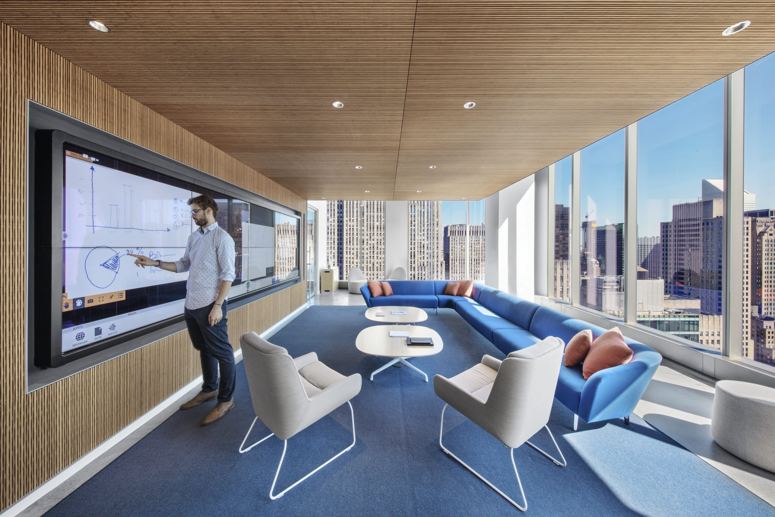 Informal workspace at the Comcast Spotlight offices