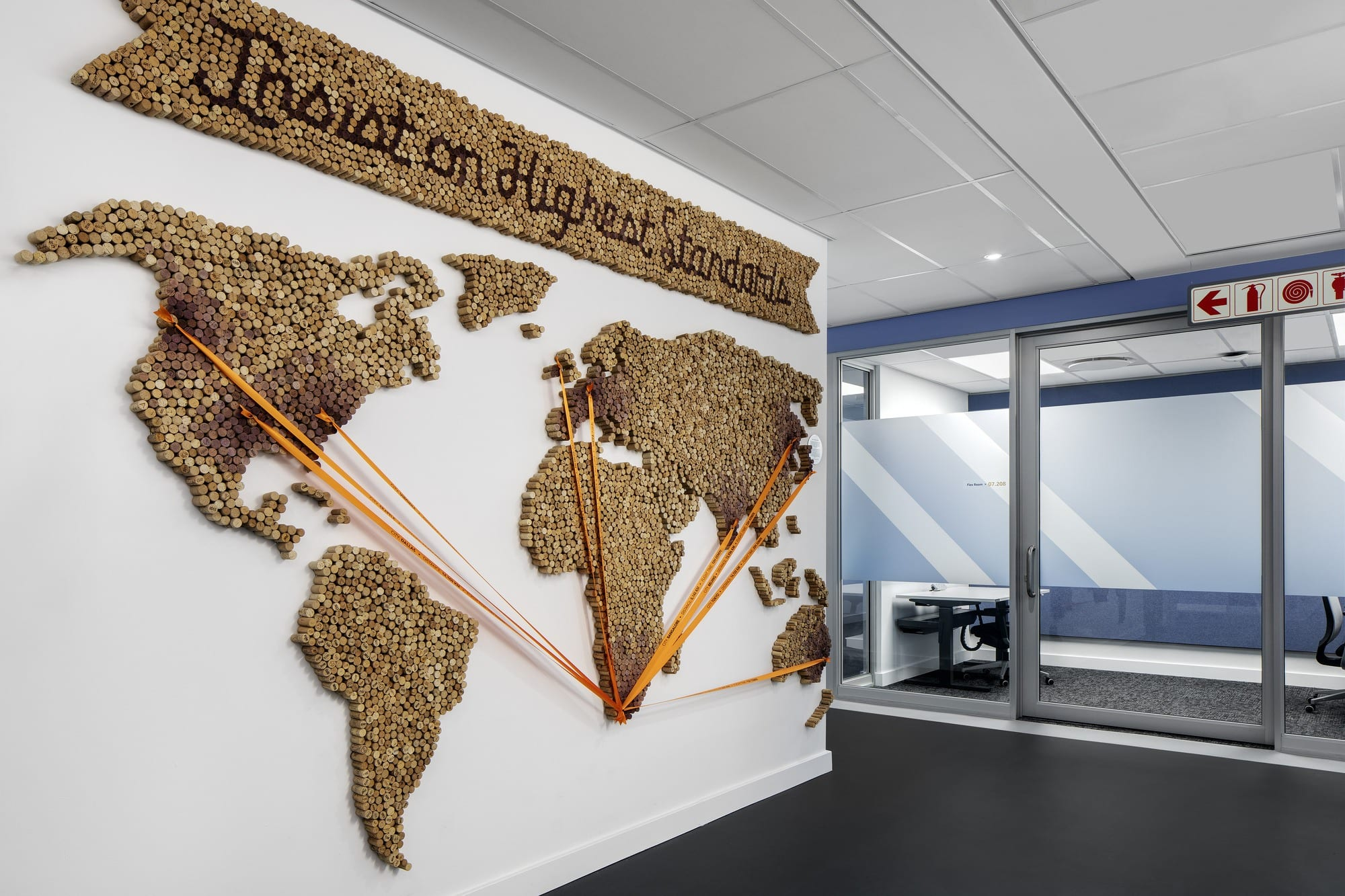 Cork map at Cape Town