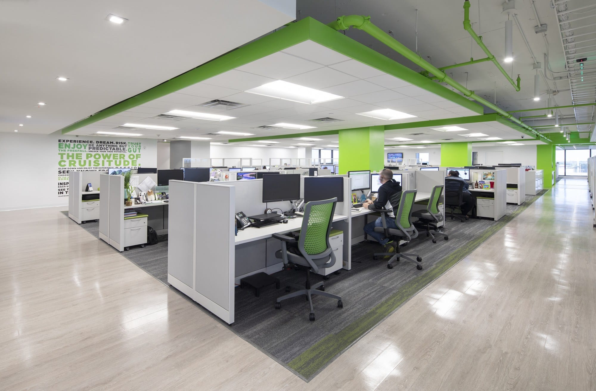 The brand's bright green color energizes and inspires Cruise Planners, Coral Springs, FL