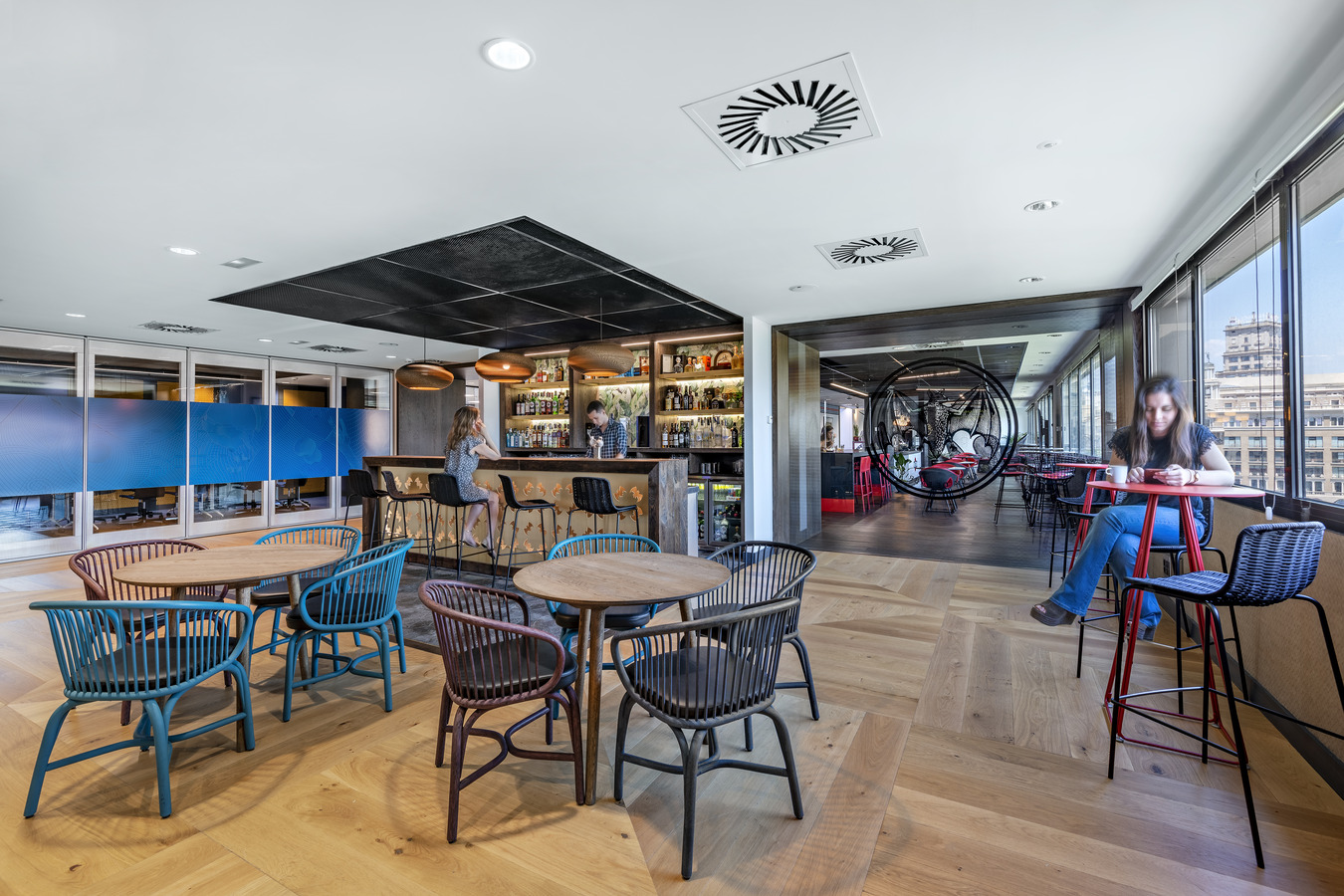 Cafe space at Bacardi's Barcelona offices.